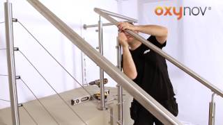 OXYNOV 11   Pose câbles inox avec tendeurs sur garde corps