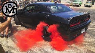 GAS MONKEY GARAGE - Richard Destroys Tires For Gender Reveal