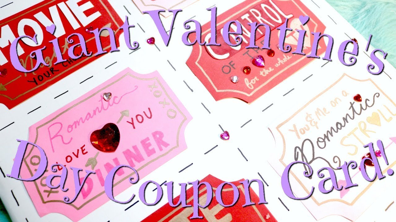 Insta Worthy Giant Valentine S Day Coupon Card Youtube