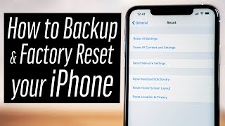 How to Backup & Reset your iPhone in 2019