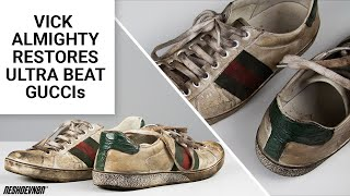 Vick Almighty Restores ULTRA BEAT Gucci Aces with Reshoevn8r