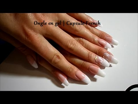Ongle En Gel Pose De Capsule French Deco Ongle