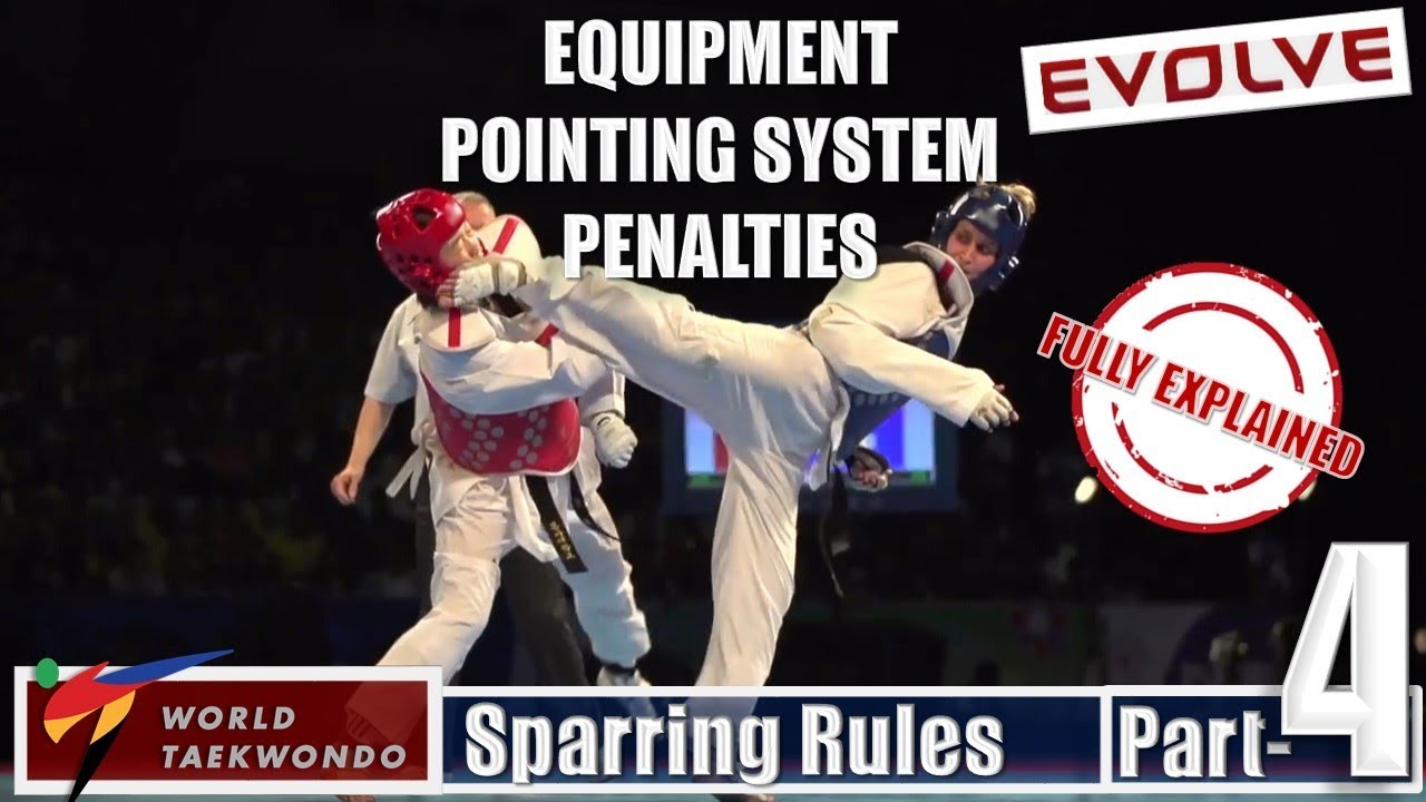 Equipment | Pointing System | Penalties | WTF Kyorugi Sparring Rules Part 4  |Taekwondo(HINDI Audio)