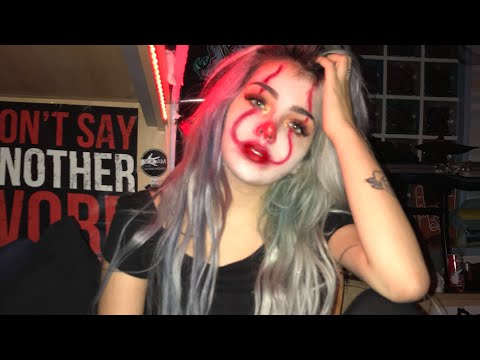 """""""IT"""" PENNYWISE GLAM MAKEUP TUTORIAL SUPER FAST AND EASY🤡 HALLOWEEN LAST MINUTE 