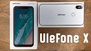Распаковка и обзор Ulefone X - бюджетный клон iPhone X на Android