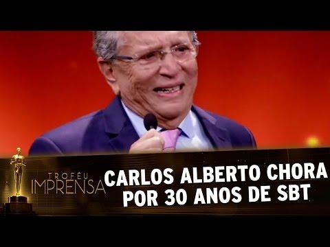Troféu Imprensa 2017 - Carlos Alberto De Nóbrega chora pelos 30 anos de SBT