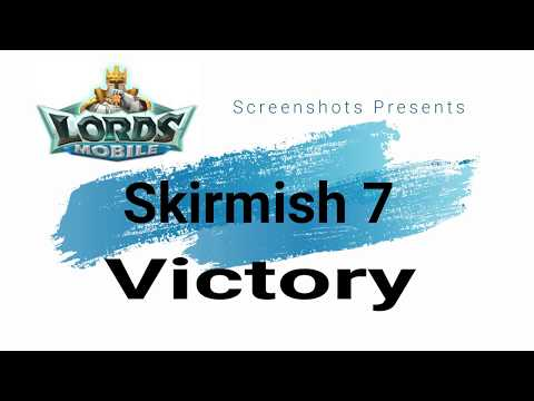 Lords Mobile - Defeating Skirmish 7 With T1