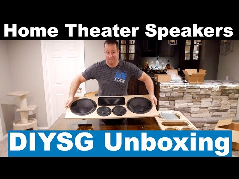 New DIY Sound Group Home Theater Speakers!! DIYSG 1299s and Volt 10s