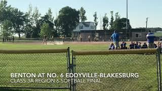 Softball highlights: Benton at No. 6 Eddyville-Blakesburg-Fremont