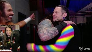 WWE Raw 4/9/18 Jeff Hardy Matt Hardy and Bray Wyatt Backstage