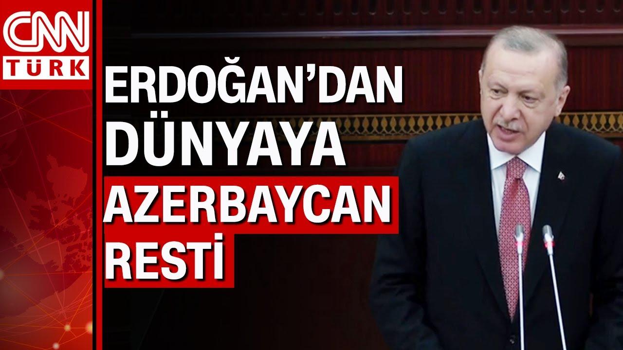 """Cumhurbaşkanı Erdoğan, """"Bütün dünya bilsin ki..."""" diyerek Azerbaycan'dan ilan etti"""