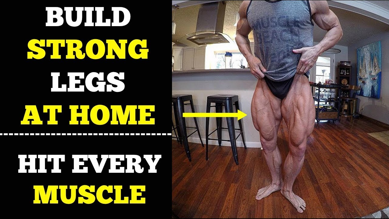 Legs Workout At Home (Quads, Hamstring, Butt) | Complete ...