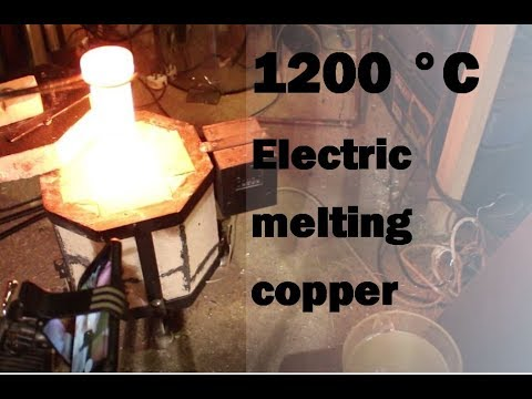 DIY Electric Foundry Upgrades - 1200°C - Melting Copper