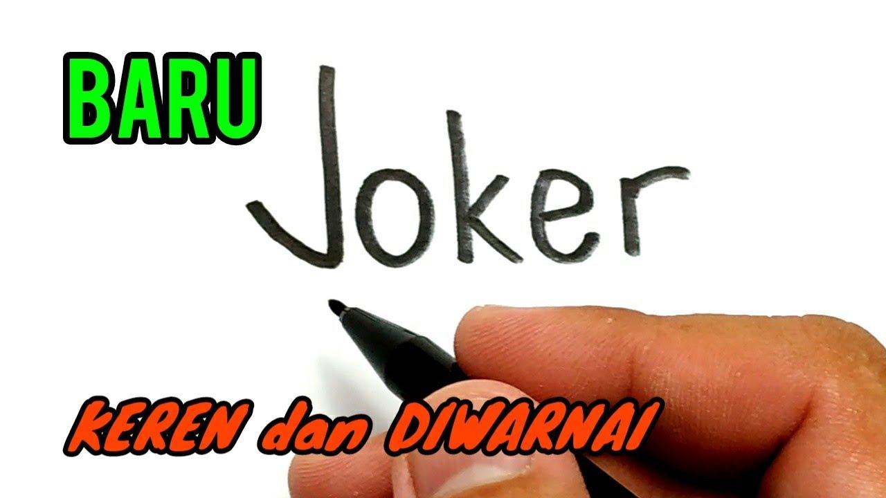 Cara Menggambar Kata JOKER Menjadi Joker Terbaru MIRIP BANGET