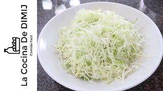 Como cortar repollo o col ( Técnicas en la cocina)