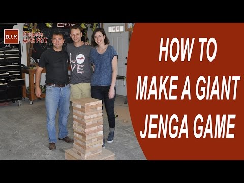 How To Make Giant Jenga Game