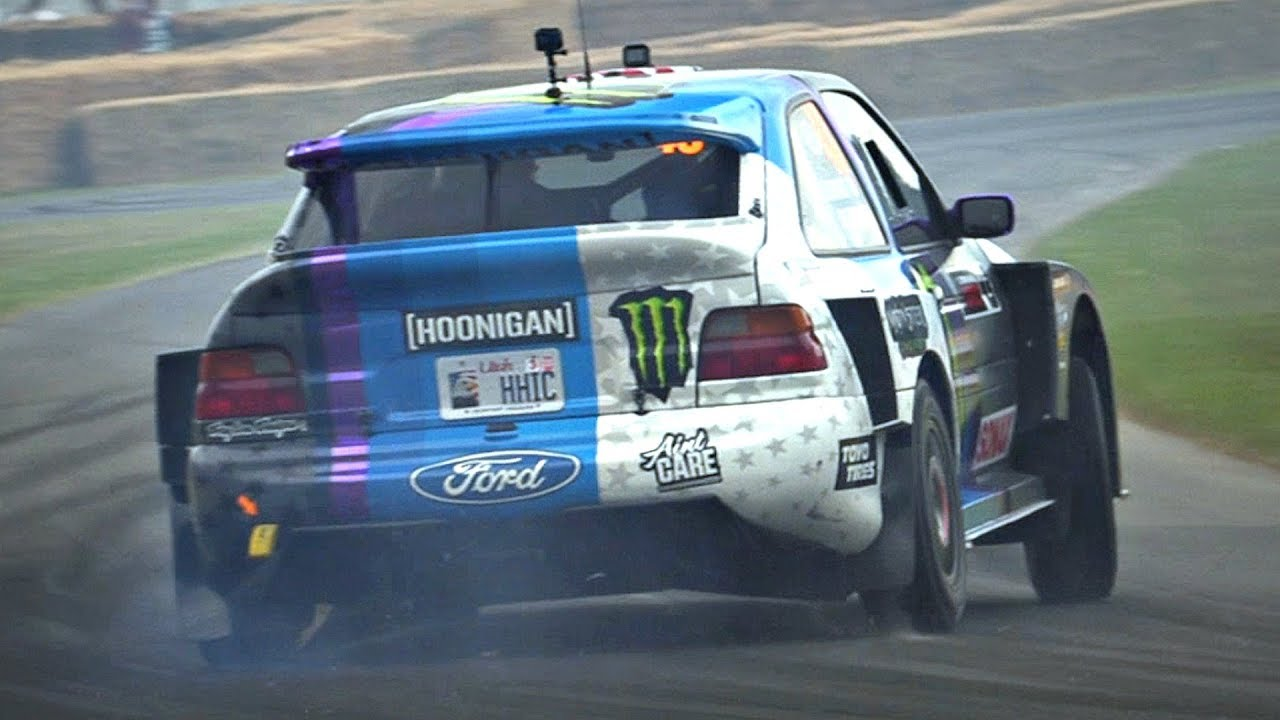 Ken Block's Cossie V2 MONSTER Ripping Tires | 600HP Ford Escort Cosworth with Anti-Lag! #1