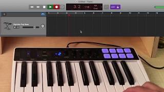 Controlling GarageBand with iRig Keys I/O