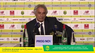 LIVE  - FC Nantes - Dijon FCO | Conférence de presse d'après-match