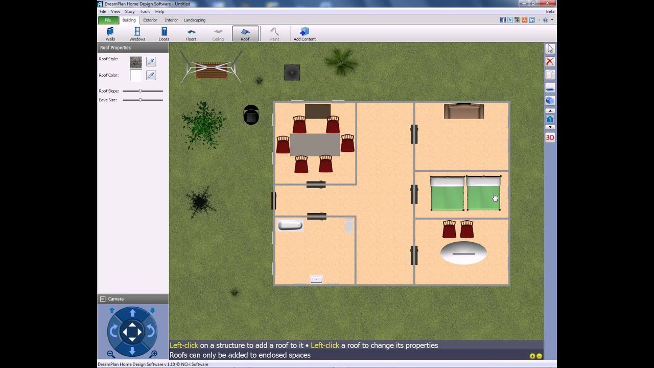 Dreamplan home design youtube for Landscape design computer programs