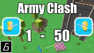 Army Clash Gameplay - First Levels 1 - 50 (iOS)