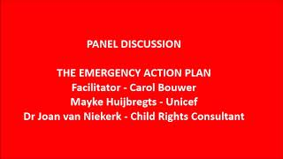 Child Trauma Conference final Panel session   Drafting the emergency plan
