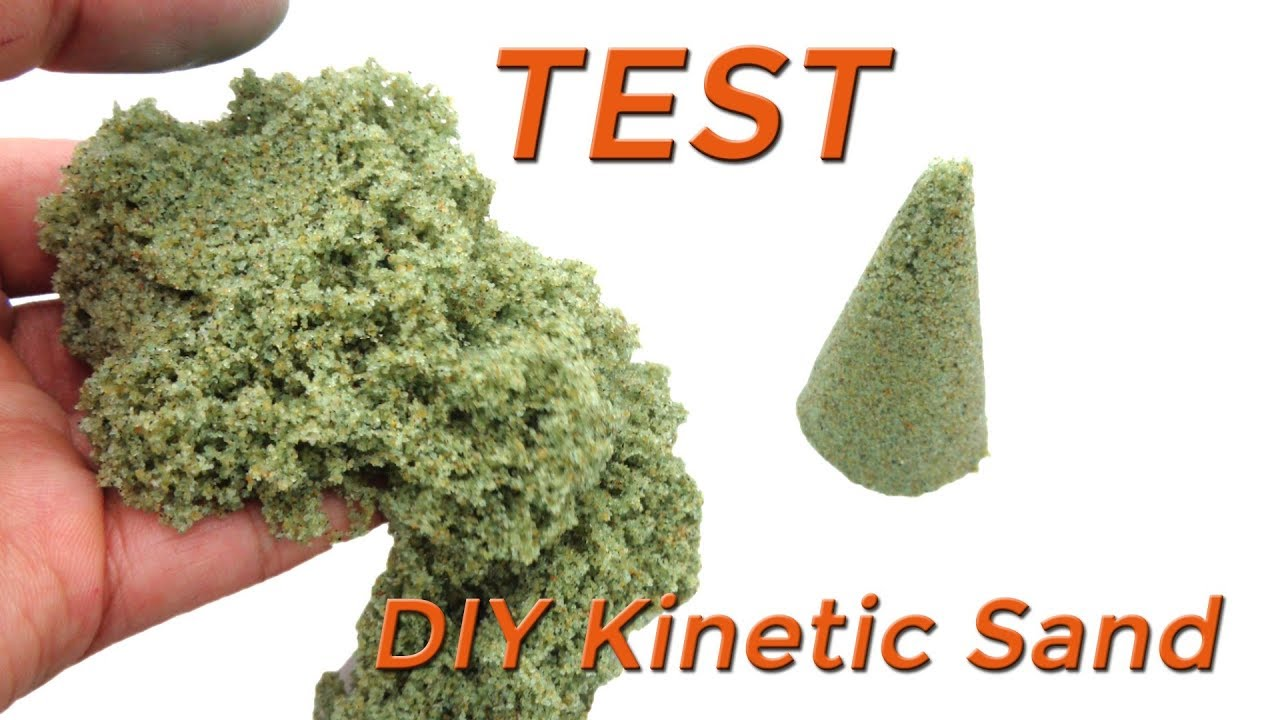 diy kinetic sand with glue sand food coloring and maica cream at home test youtube. Black Bedroom Furniture Sets. Home Design Ideas