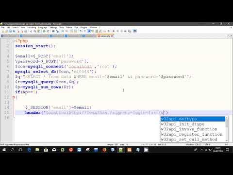 Login form | php | mySql | Xampp |Part 3