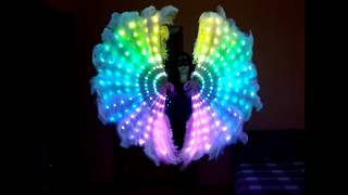 Пиксельные веера из страусиного пера/ LED Pixel fans made of ostrich feathers