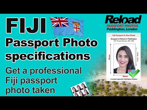 Fiji Passport Photo and Visa Photo snapped in Paddington, London
