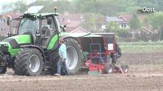 Inzaaien van elf hectare olifantsgras in Zwolle begonnen