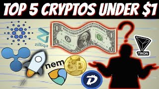 Top 5 Cryptocurrencies Under 1$ (2018)
