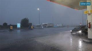 Unwetter in bayern (12.08.2019)