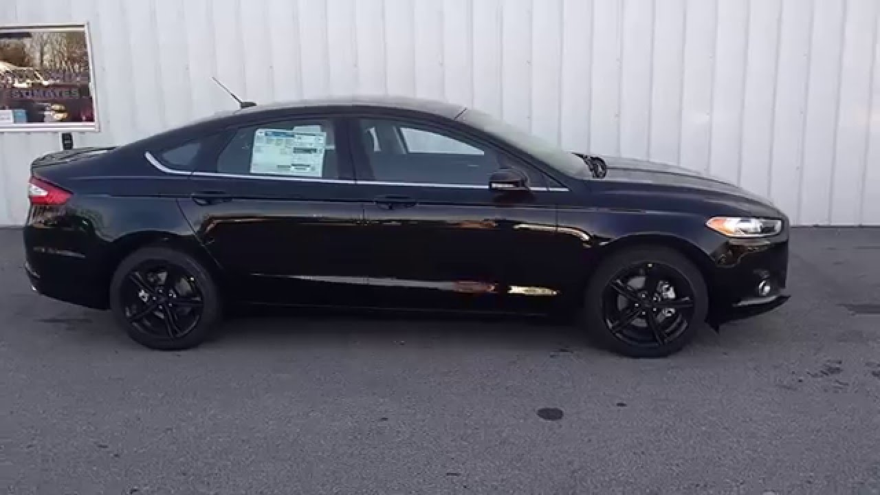 Shadow Black 2016 Fusion SE 15L 201A MyFord Touch