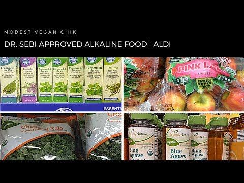 Dr Sebi Approved Alkaline Foods at ALDI   Alkaline Vegan Grocery Shopping