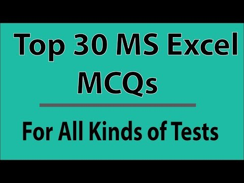 Most Repeat Top 30 MS Excel MCQs 2018 | Microsoft Excel FPSC, CSS, NTS, PTS, OTS, PAF, PAK NAVY