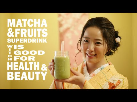 Amazing! This is Japanese Matcha(Green Tea) Smoothie!