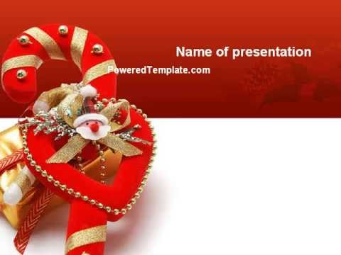Christmas Candies PowerPoint Template By PoweredTemplate