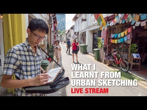What I Learnt From Urban Sketching (LIVE STREAM)
