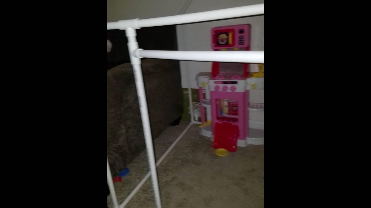 Functional Door On Pvc Play House Youtube