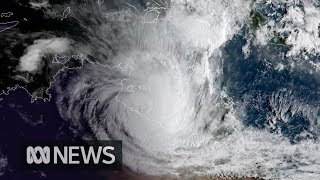 Severe tropical Cyclone Trevor, which authorities estimate is bigge...