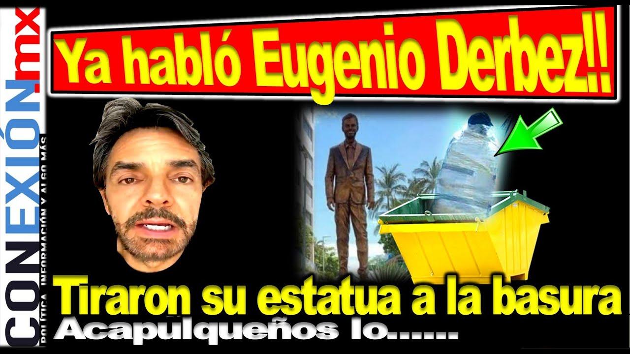 Download Eugenio Derbez contesta por haber hallado su estatua en la basura. Se fue contra Obrador y allí esta