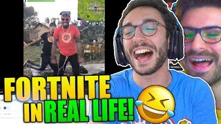 FORTNITE IN REAL LIFE!! Our REACTION! w/GiampyTek