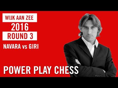 Wijk aan Zee/Tata Steel Chess Masters 2016 Round 3 Navara vs Giri