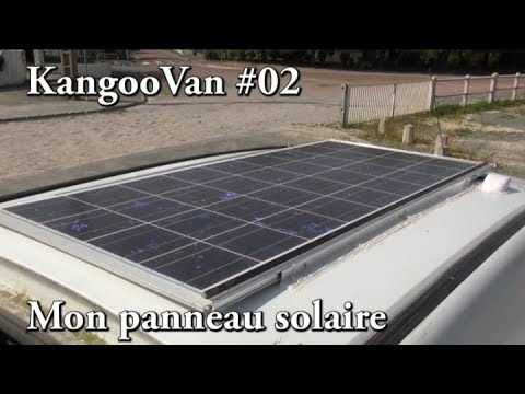 vlog kangoovan 02 mon panneau solaire 130w youtube. Black Bedroom Furniture Sets. Home Design Ideas