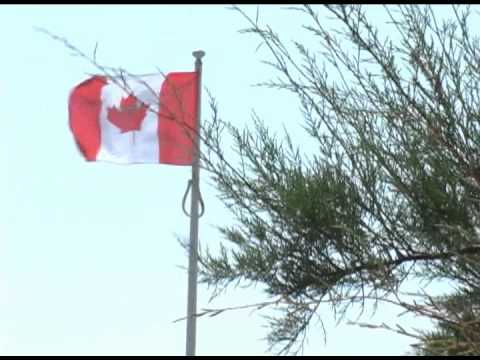 Worthing-Dieppe Raid-Canadian Flag flying on seafront