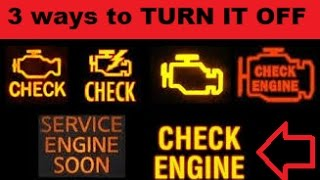 3 ways to turn off CHECK ENGINE without scanner EASY!!