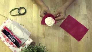 How to Make a Rose Origami with Kleenex Scented Tissue for Your Loved Ones