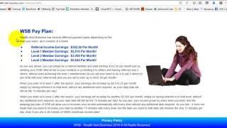 НовыWEALTH START BUSINESS бесплатно регистрация   на интернет доход от просмотра рекламый фильм