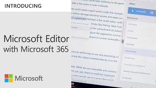 Bring Your Best Writer With Microsoft Editor